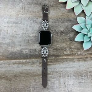 Accessories - Happy Trails Leather Apple Watch Band - White